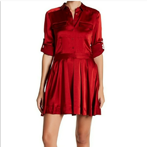a09501394de DKNY Dresses   Skirts - DKNY satin shirt dress size 12